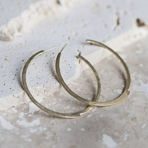 Collections by Joya hammered gold hoop earrings